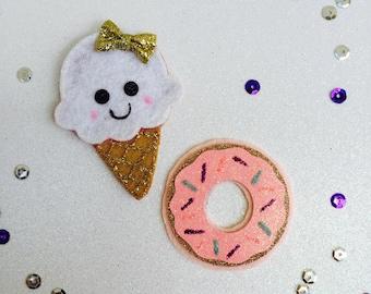 Ice Cream hair clip , Donut Hair clip, hair accessories