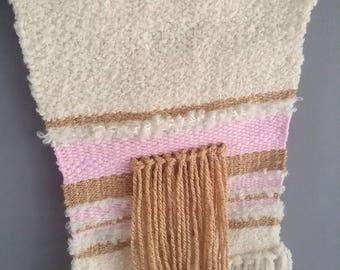 Weaving wall tones beige, pink, cream white
