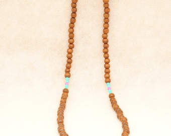 Turquoise and lilac Necklace Boho