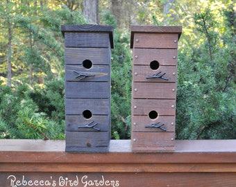 "Rustic Birdhouse ~ ""The Tree House"" - Unique Birdhouse - Wooden Birdhouse - Outdoor Birdhouse - Rustic Birdhouses"