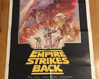 "The Empire Strikes Back (1981 Re-release). US Original One Sheet (27"" x 41"")"