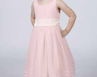 Pale Pink Flowergirl Dress with Complimentary Sash available in all Matchimony colours by Matchimony