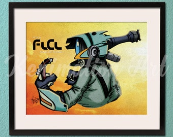 FLCL (Fooly Cooly) Canti Art Print - Anime Art