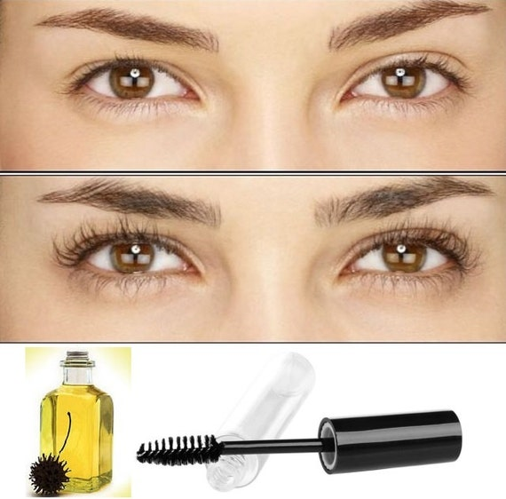Organic Castor Oil Eyelash Eyebrow Enhancer Growth Serum 100