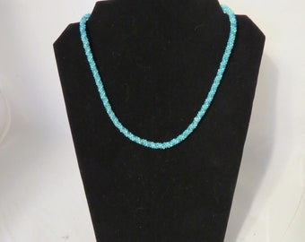 Miami Surf Tubular Peyote Necklace/ Seed Bead Necklace / Tubular Peyote Necklace