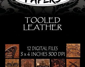 Tooled Leather Collection Digital Patterns