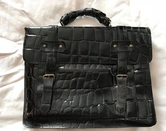 Italian Patent Leather Briefcase