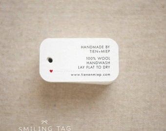 Personalized  Care Labels Instructions Tags - Etsy Product Tag - Clothing Care Tag  - Etsy Shop Labels Hang Tag- Set of 30 (Item code: J546)