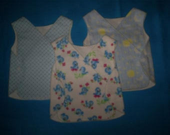 Preemie Baby 3-6 lbs. Boy Set of 3 NICU gowns.