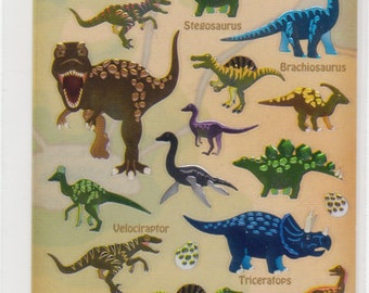 Dinosaur Stickers - Dinosaurs and Vocab Stickers - Mind Wave - Reference A1318-21