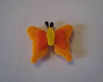 1 Butterfly orange felt