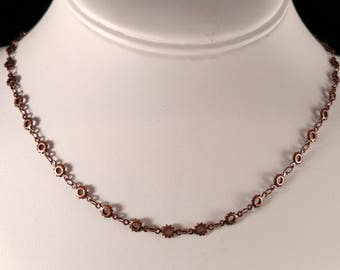 Copper Chain with Toggle Clasp