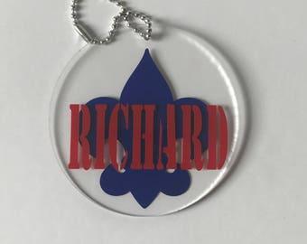 Boy Scout Keychain / Boy Scout Personalized KeyChain / Backpack Keychain / Personalized Keychain