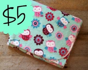 Extra Large Owl Flannel Receiving Blanket- Baby Shower Gift- Swaddle Blanket- Woodland Animals-Baby Blanket- Purple-Mint-Girl-Pink-Nursery