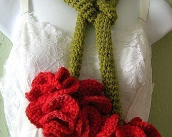 Carnation Lariat Crochet Pattern PDF EASY - permission to sell what you make