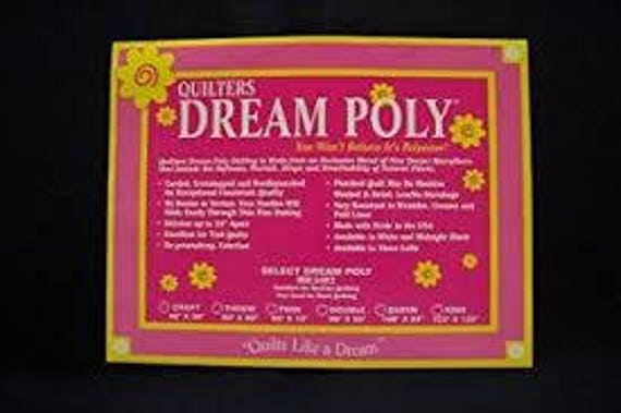Quilters Dream Poly Black Batting Mid Loft ---You choose your Size Crib, Craft, Throw or Twin