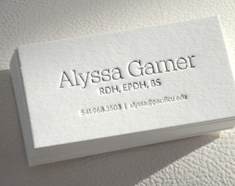 Grey business card etsy sale 300 letterpress business cards only black or grey ink reheart Images