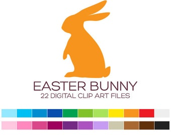 Easter Bunny Clipart Easter Planner Stickers Easter Clipart Holiday Clipart Rabbit Clipart Animal Clipart Baby Clipart Easter Cards - A50002