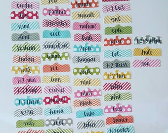 Clearance! Scallop Snap Brights Old/New Testament Bible Tabs {Hand lettered}
