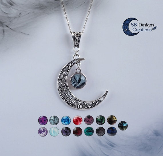 Moon necklace celtic necklace crescent moon celtic moon aloadofball Image collections