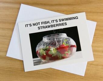 A set of 4 - Fun Food cards