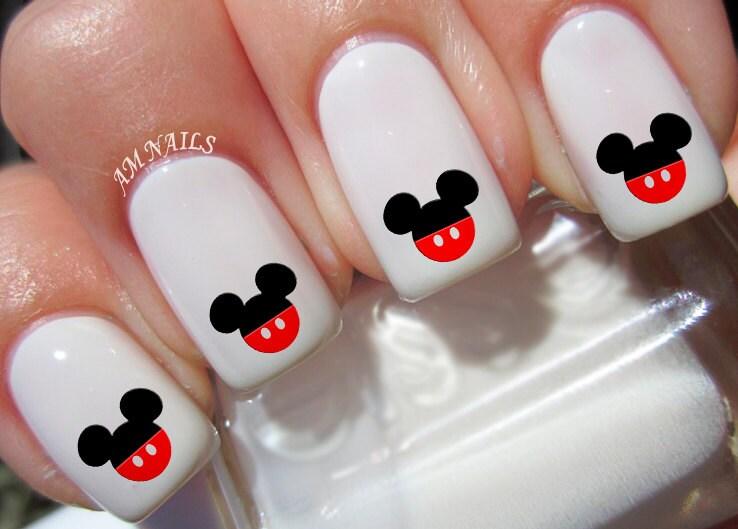 52 orejas de Mickey Mouse pantalón calcomanías de uñas