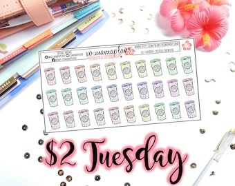 Tuesday's 2's- Morning Coffee Doodles | Planner Stickers | Perfect for any planner