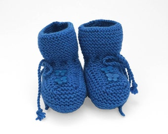 Blue Boots, Baby Boots, Blue Socks, Christmas Gifts, Knitted Baby Shoes, Boy Booties, Infant Booties, Gift For Baby, New Baby Gift