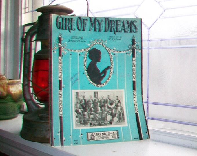 Vintage Sheet Music 1927 Girl Of My Dreams
