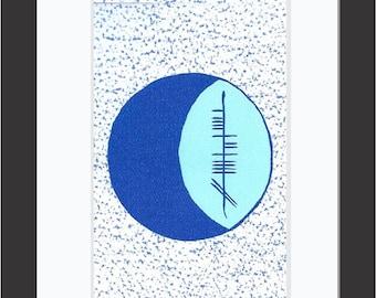 Moon (Gealach) Ogham 5x7 Print