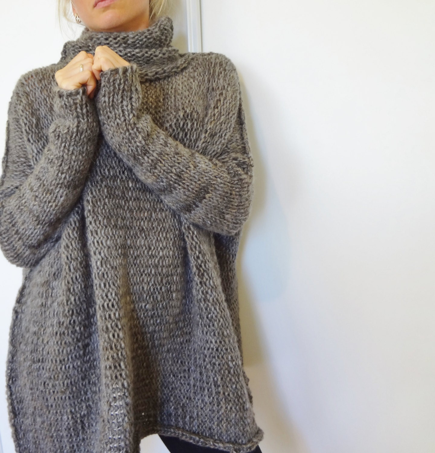 Oversized Chunky knit sweater.Slouchy/Bulky/ Loose sweater.