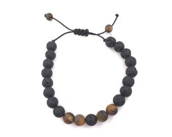 Men's Bracelet, Essential Oil diffuser Bracelet, aromatherapy Bracelet, lava bead bracelet, lava stone bracelet, men diffuser, father's day