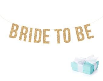 Glitter Wedding Banner. BRIDE TO BE Bachelorette Banner Glitter Garland.  Bridal shower decor. Bachelorette Party. Wedding Shower.