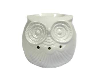 Classic White Oil Burner - Short Owl