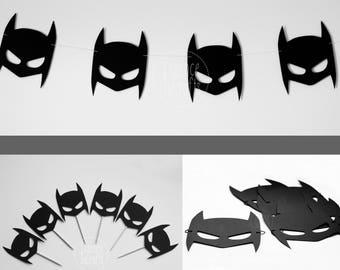 KIT batman mask. Batman mask, Batman cupcake topper, wall banner Batman,batman party decor, batman cupcake topper, Birthday Party
