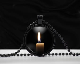 Pendant Necklace Candle - Candle Pendant - A0005
