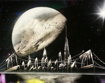 SPRAY Paint Art st New York Space - Space Painting