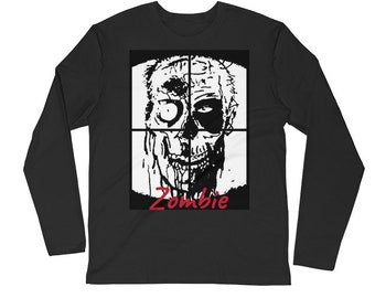 Zombie Long Sleeve Fitted Crew