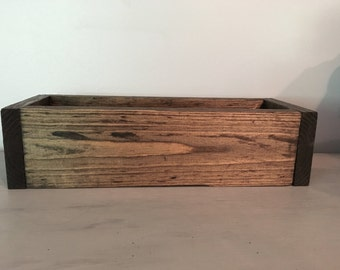 planter box, wooden box, wedding decor, mantle decor,  centerpieces, rustic wedding, rustic box, farmhouse decor,  wedding centerpiece