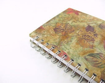 5 x 7 large sketchbook, nature art journal, batik, watercolor sketchbook, diary, prayer journal, notebook, writing, spiral bound book