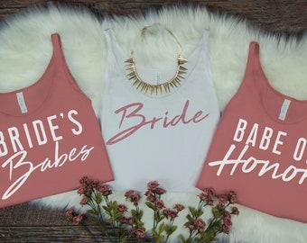 Bride, Bachelorette Party, Bachelorette Party Shirts, Bachelorette Tanks, Customizable Bachelorette Shirts