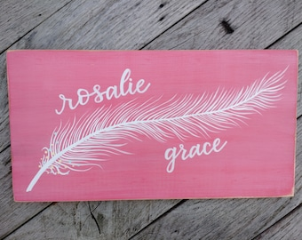 Feather Name Wall Decor