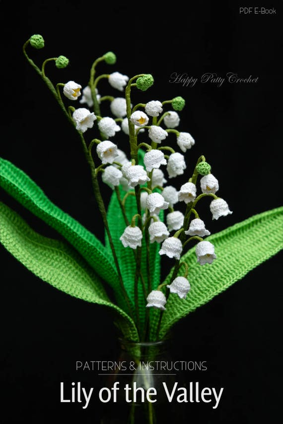 Crochet Pattern For Lily Of The Valley Crochet Flower Pattern From