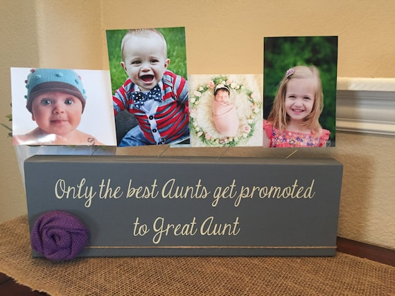 Great Aunt frame gift Personalized picture frame board aunt uncle ...
