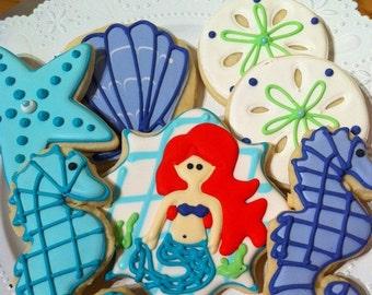 Custom Under the Sea Sugar Cookies