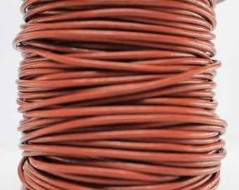 1 Meter of 2MM Saddle Brown Leather Cord (1 yard) (1m)