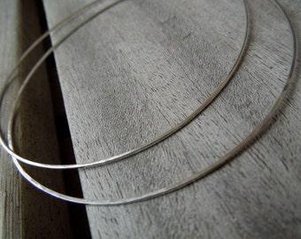 Silver Hoops-Sterling Silver Thin X-Large Hoop Earrings-Bohemian Ease in Silver