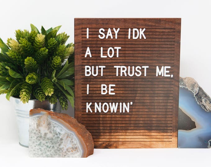 Featured listing image: Wooden Letter Board 8x10 - Walnut - Letterboard, Message Board, Felt Board, Modern Farmhouse, Modern Cabin, Natural, Organic, Handcrafted
