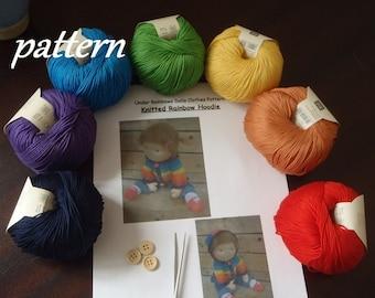 Pattern ~ Under Rainbows Knitted Rainbow Hoodie