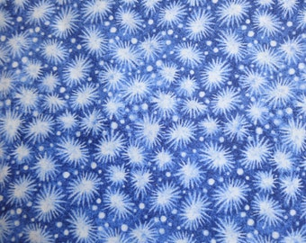 Blank Quilting Dark Blue Star Bursts Fabric 26